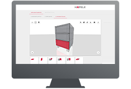 Häfele drawer side systems configuration tool