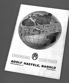 The first Häfele Furniture Fittings Catalogue
