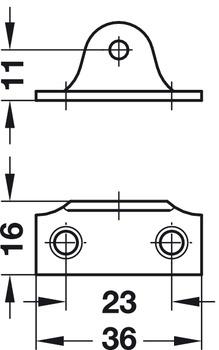 Häfele Öffnungsbegrenzer Stahl Klappenhalter zum Schrauben Klappenbeschlag 150mm