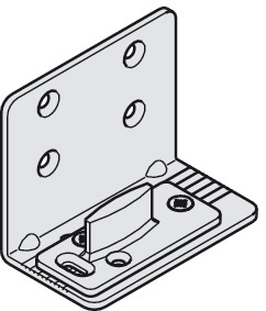 Bottom guide, with wall mounting bracket