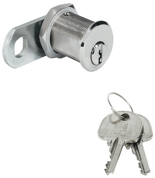 Cam lock, With pin tumbler cylinder, nut fixing, door thickness ≤21 mm, customised standard profile