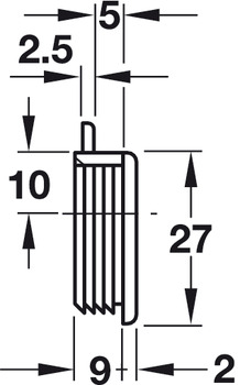 Guide, With spring loaded pin