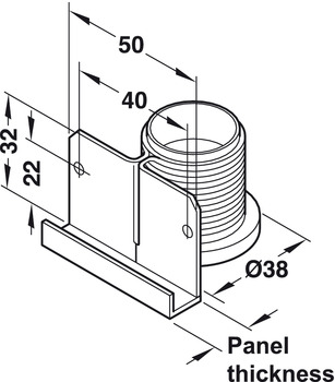 Plinth height adjuster, with supporting bracket, for screw fixing