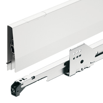 Pull out for door front fixing set, Häfele Matrix Box P70, with panel holder, drawer side height 115 mm, load bearing capacity 70 kg