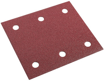 Sanding strips, W x L: 115 x 102 mm, for wood/metal, with Velcro and 6 holes