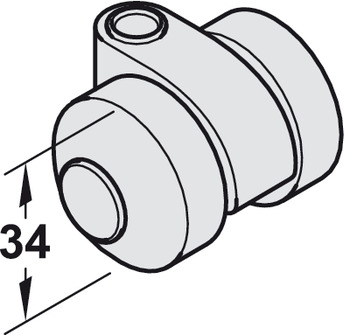 Swivel castor, For Chassis, Variant-C
