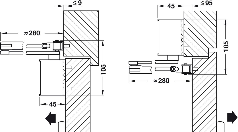Dorma T/ürschlie/ßer TS 71 RF weiss mit Rastfeststellarm als T/ürfeststeller EN 3//4