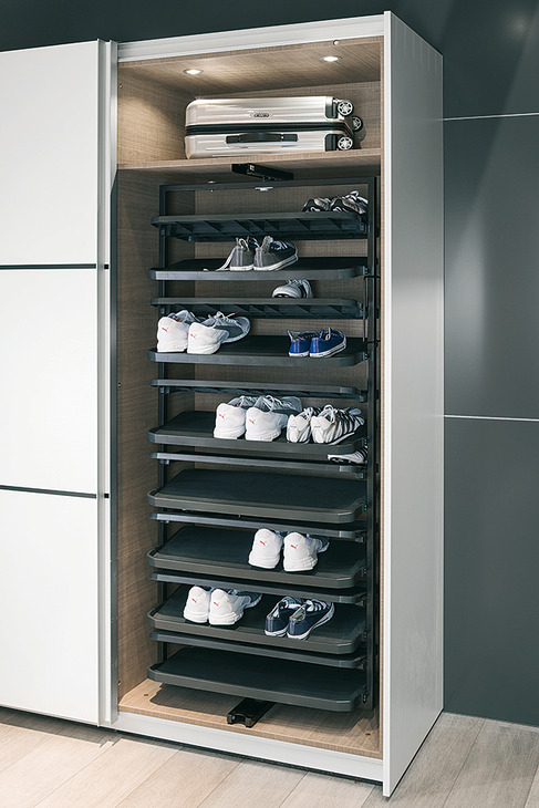 Pull Out Shoe Rack Rotating 180 For, Rotating Shoe Storage